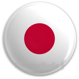 ID# 2185 - Badge of the Flag of Japan - Presentation Clipart