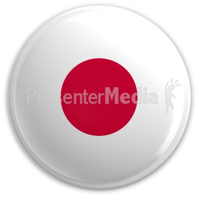 Badge of the Flag of Japan PowerPoint Clip Art