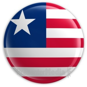 ID# 2190 - Badge of the Flag of Liberia - Presentation Clipart