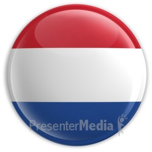 ID# 2198 - Badge of the Flag of the Netherlands - Presentation Clipart