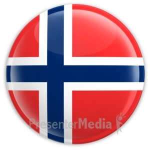 ID# 2201 - Badge of the Flag of Norway - Presentation Clipart