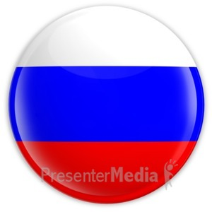 ID# 2216 - Badge of the Flag of Russia - Presentation Clipart