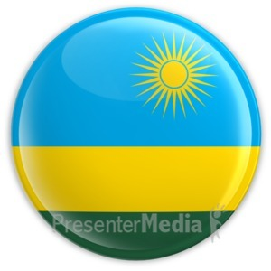 ID# 2217 - Badge of the Flag of Rwanda - Presentation Clipart