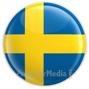 ID# 2220 - Badge of the Flag of Sweden - Presentation Clipart