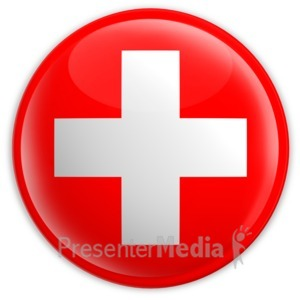 ID# 2222 - Badge of the Flag of Switzerland - Presentation Clipart