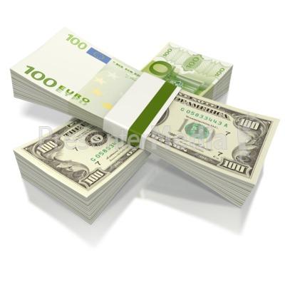 Split Currency  PowerPoint Clip Art