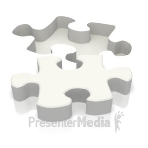 ID# 2229 - Ground Puzzle Piece  - Presentation Clipart