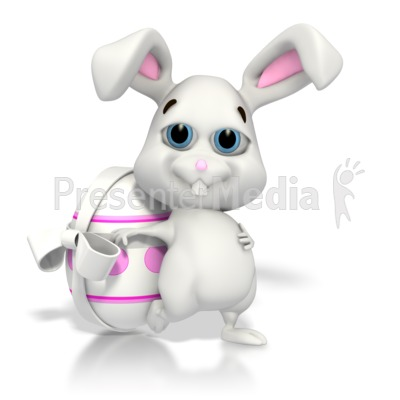 Easter Bunny Relaxing PowerPoint Clip Art
