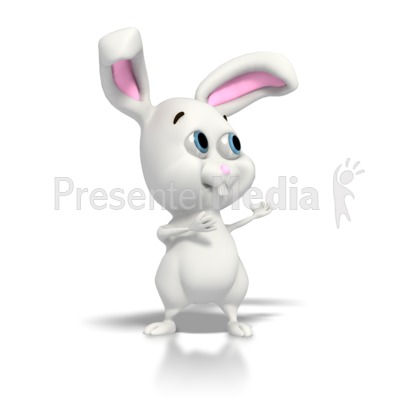 Easter Bunny Gesturing  PowerPoint Clip Art