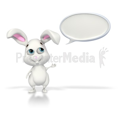 Easter Bunny Conversation PowerPoint Clip Art