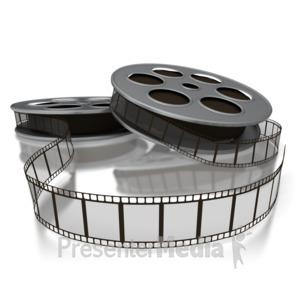 ID# 2267 - Movie Film Reels - Presentation Clipart