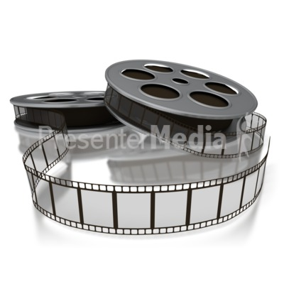 Movie Film Reels PowerPoint Clip Art
