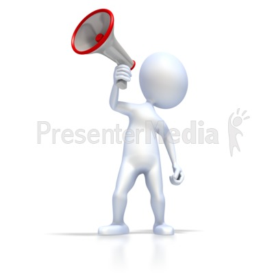 Figure With Megaphone PowerPoint Clip Art