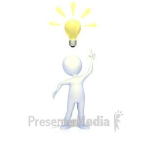 ID# 2277 - Bright Idea - Presentation Clipart