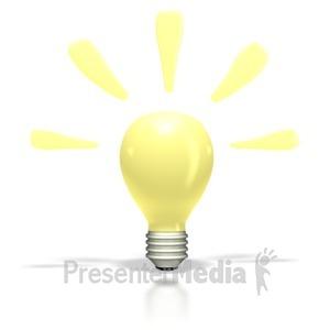 ID# 2278 - Bright Idea Light Bulb - Presentation Clipart