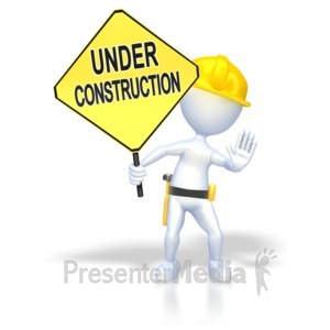 ID# 2285 - Under Construction  - Presentation Clipart