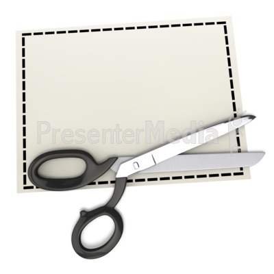 scissors on top of blank coupon signs and symbols great clipart rh presentermedia com Coupon Border Clip Art Downloadable Clip Art of Coupons