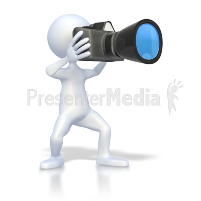 Stick Figure Taking Picture PowerPoint Clip Art