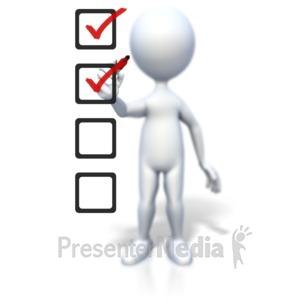 ID# 2328 - Stick Figure Drawing Checklist - Presentation Clipart
