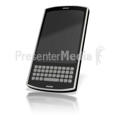Touch Smart Phone Blank  PowerPoint Clip Art