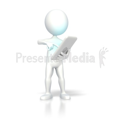 Digital Computer Tablet Operate PowerPoint Clip Art