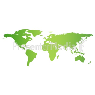 Green Flat World Map Education And School Great Clipart For - Flat globe map