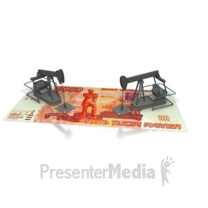 ID# 2383 - Oil Money Russia  - Presentation Clipart