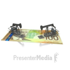 ID# 2385 - Oil Money Canada  - Presentation Clipart