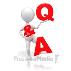 ID# 2391 - Stick Figure Q & A - Presentation Clipart