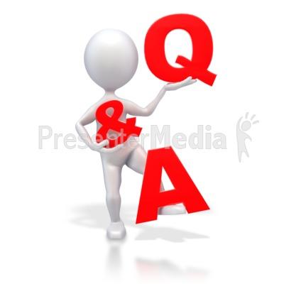 Stick Figure Q & A PowerPoint Clip Art