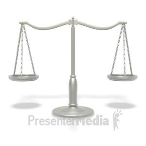 ID# 2400 - Silver Justice Scale - Presentation Clipart