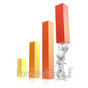 ID# 2405 - Raise Graph Team  - Presentation Clipart