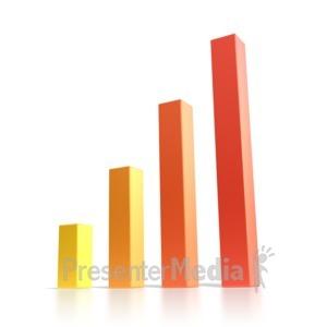 ID# 2435 - Bar Graph  - Presentation Clipart