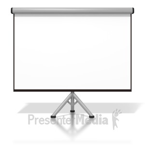 ID# 2449 - Projector Screen - Presentation Clipart