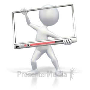 ID# 2452 - Inside Media Window - Presentation Clipart