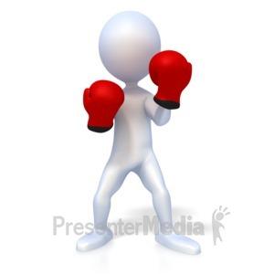 ID# 2464 - Stick Figure Boxer - Presentation Clipart