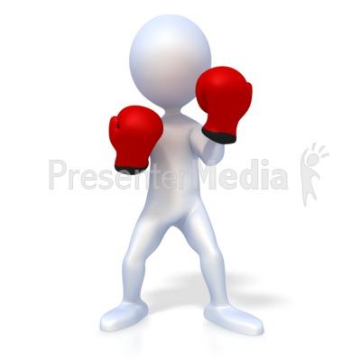 Stick Figure Boxer PowerPoint Clip Art