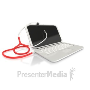 ID# 2469 - USB Stethoscope  - Presentation Clipart
