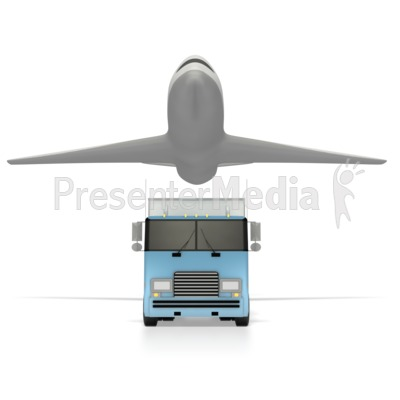 Truck And Airplane  PowerPoint Clip Art
