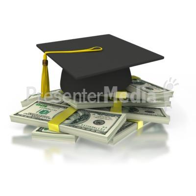 Graduation Cash PowerPoint Clip Art