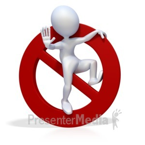 ID# 2495 - 3D Figure Prohibited or Banned Symbol - Presentation Clipart