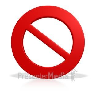 ID# 2496 - Prohibited Symbol - Presentation Clipart
