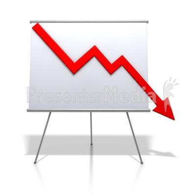 Financial Graph Decrease PowerPoint Clip Art