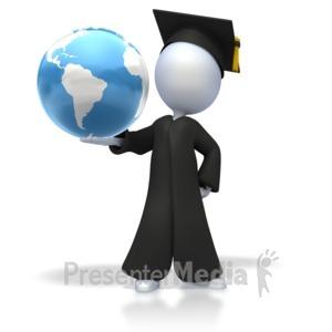 ID# 2501 - Graduation World - Presentation Clipart
