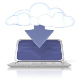 ID# 2519 - Cloud Computer Download - Presentation Clipart