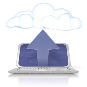 ID# 2521 - Cloud Computer Upload - Presentation Clipart
