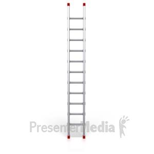 ID# 2527 - Metal Ladder Standing Upright - Presentation Clipart