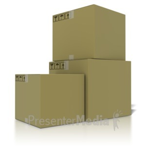 ID# 2551 - Stack Of Boxes - Presentation Clipart