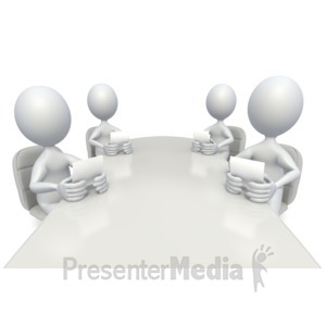 ID# 2560 - Conference Room Meeting - Presentation Clipart