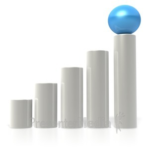 ID# 2595 - Ball Bar Graph  - Presentation Clipart